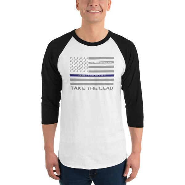 USA 'Pawz for Police' 3/4 Raglan shirt