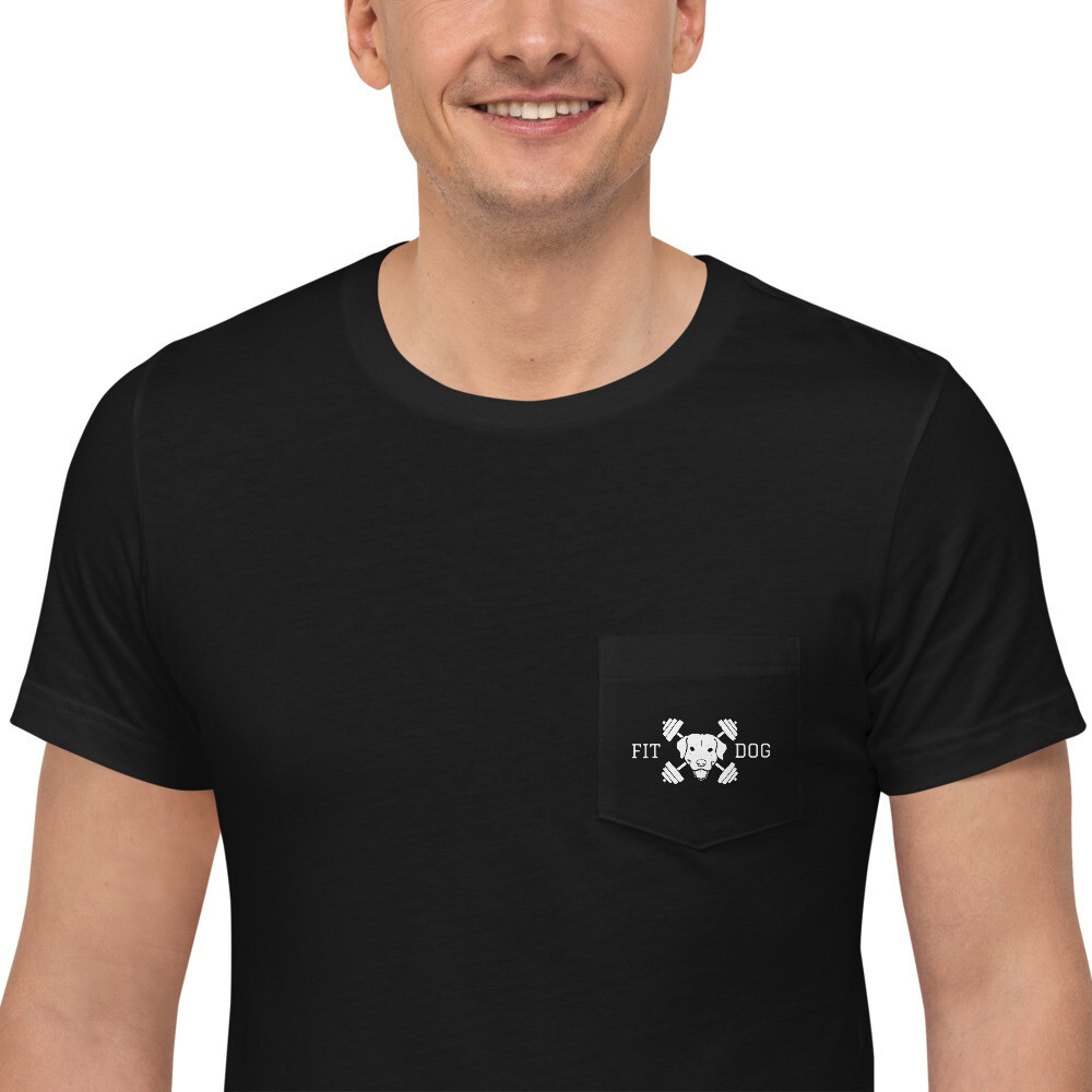 Unisex Fit Dog Pocket T-Shirt