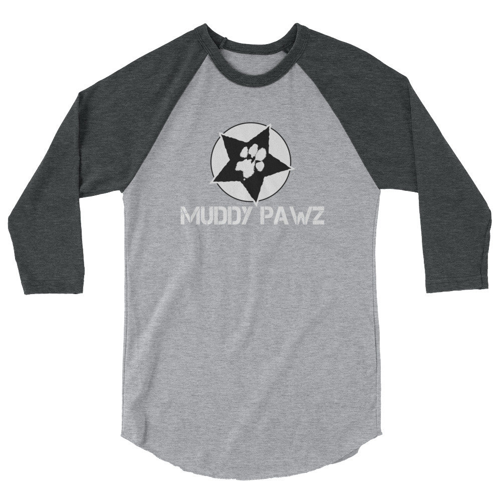 Muddy Pawz Star 3/4 sleeve raglan shirt