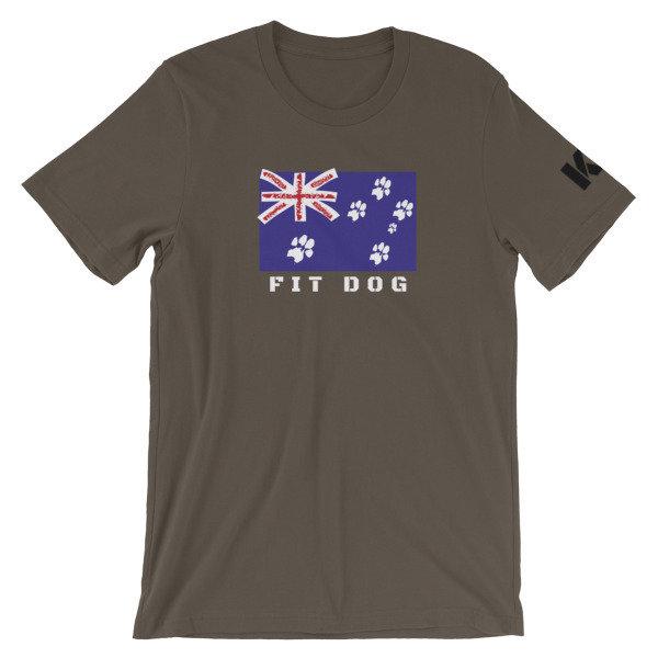 Fit Dog Pawz Flag Unisex T-Shirt