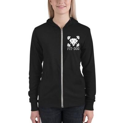 Unisex Fit Dog zip up hoodie