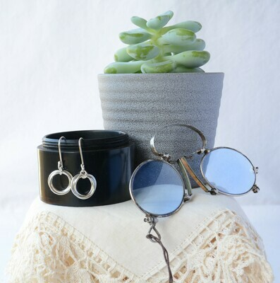 Tri-ring earrings