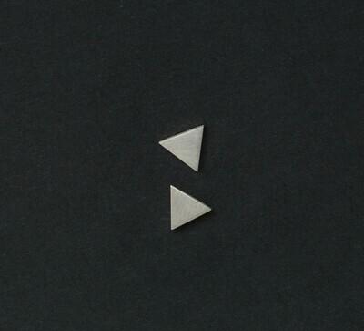 Satin Finish Triangle Studs
