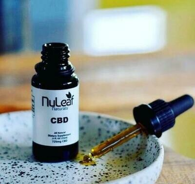 Full Spectrum Hemp CBD Oil (300-6000 mg)   (NuLeaf)