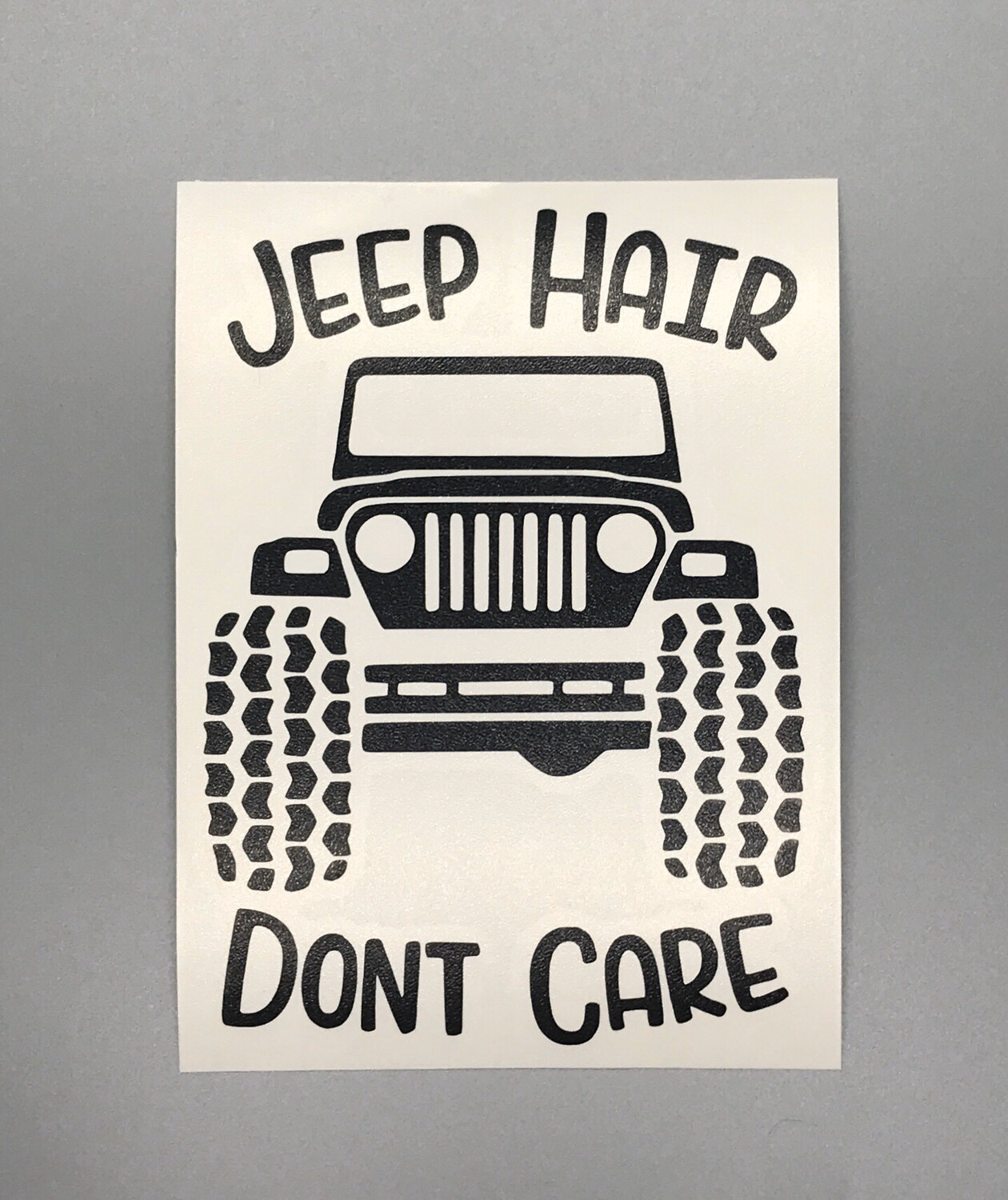Jeep Hair Decal