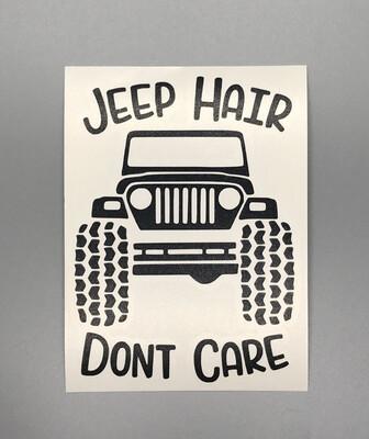 Jeep Hair Decal