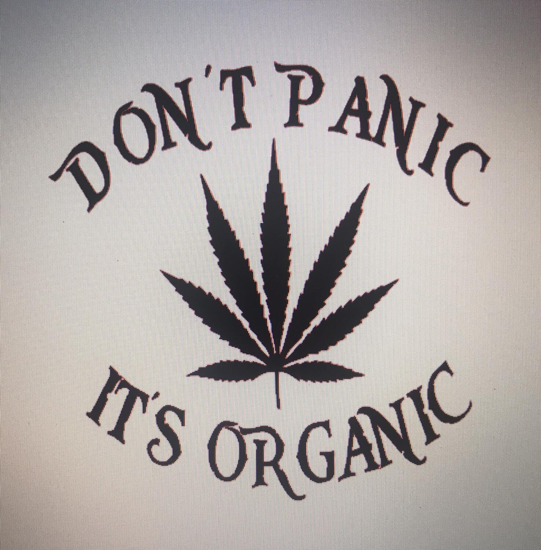 Don't Panic, It's Organic Decal