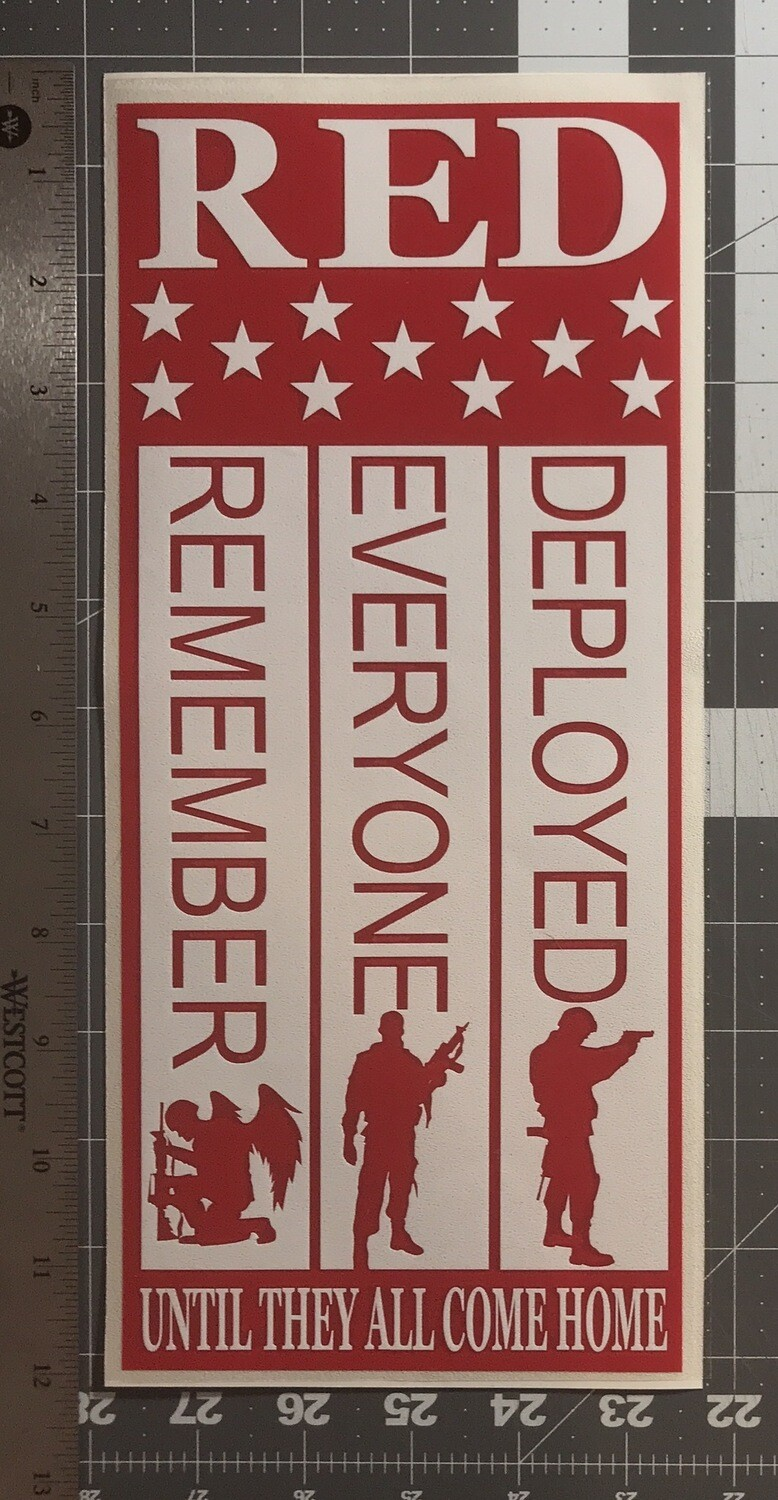 RED Decal Remember Everyone Deployed