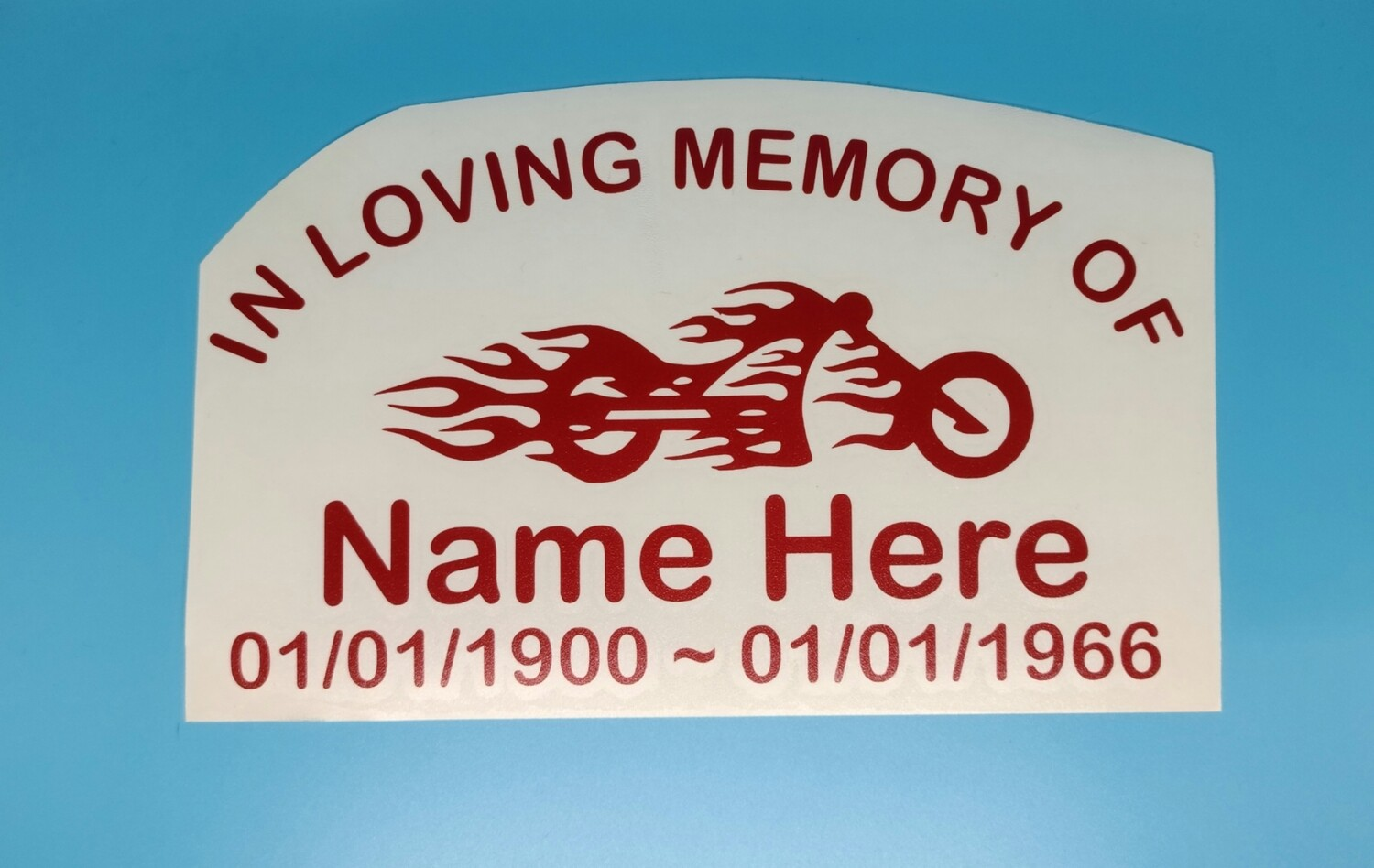 Motorcycle Memorial Decal