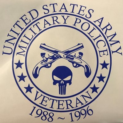 Customized Veteran Decal with Service Years