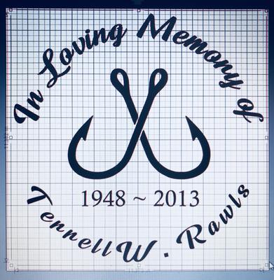 Fishing Hooks Memorial (Personalized)