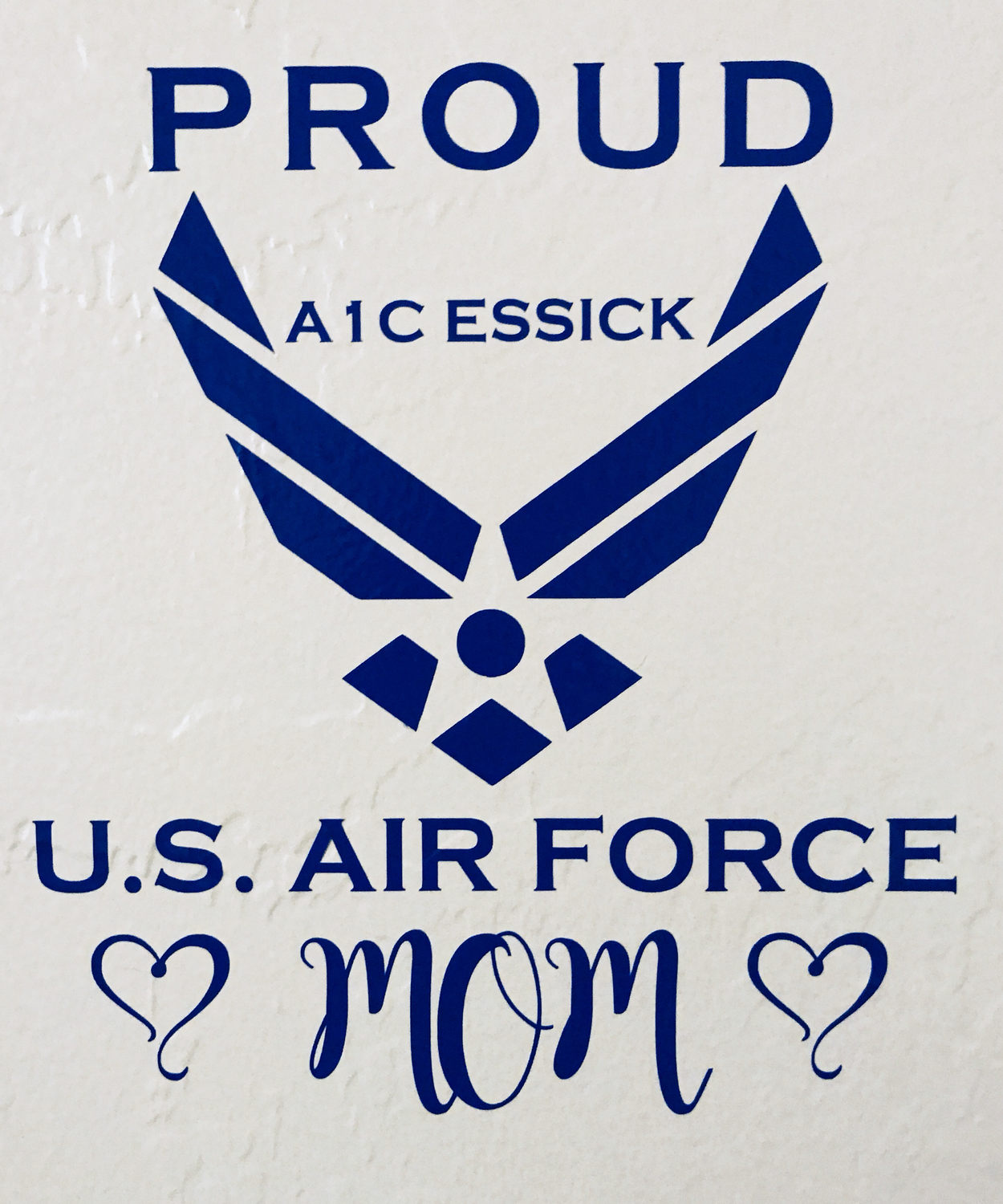 Customized Proud U.S. Air Force Mom Decal