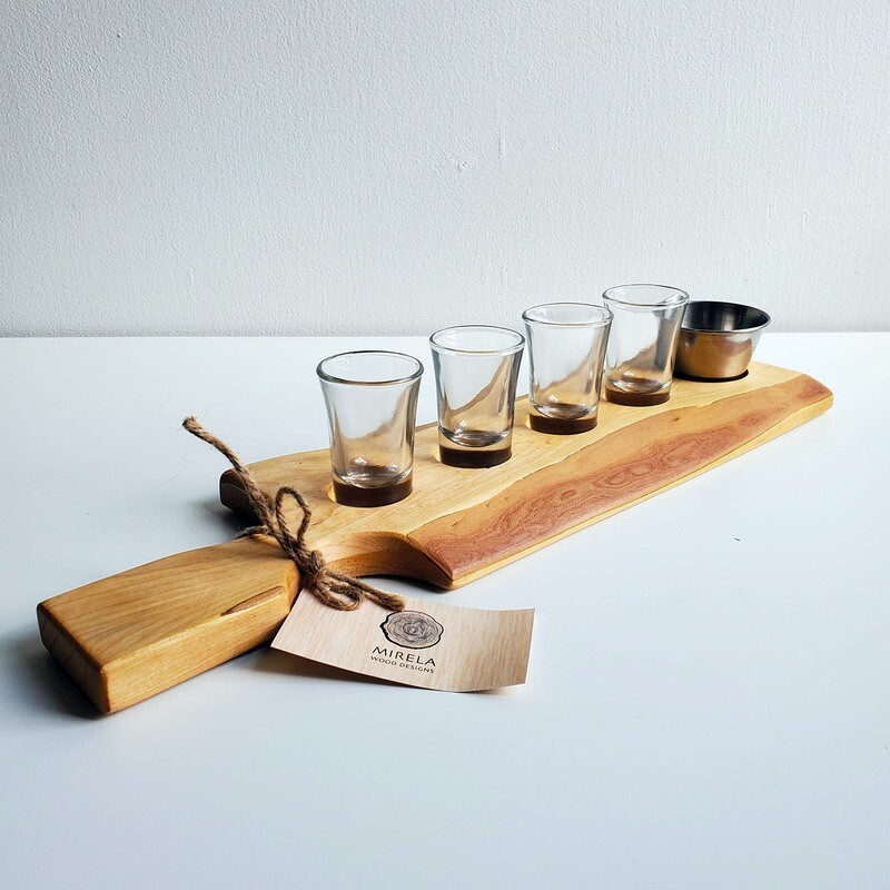 Tequila Shots Board w/ Lime Bowl