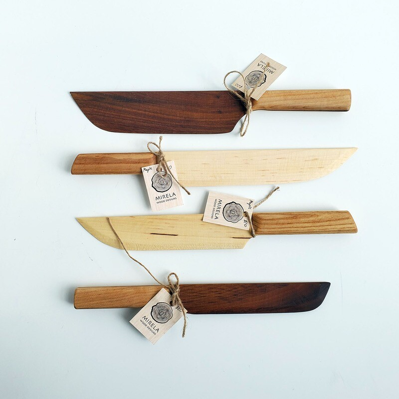 Wooden Cheese Knife