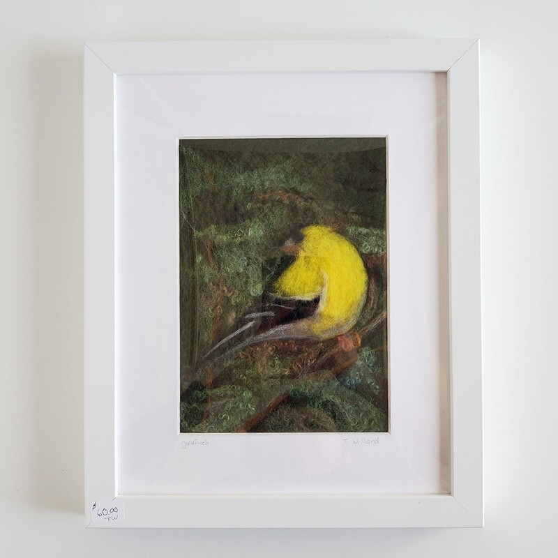 Felted Goldfinch