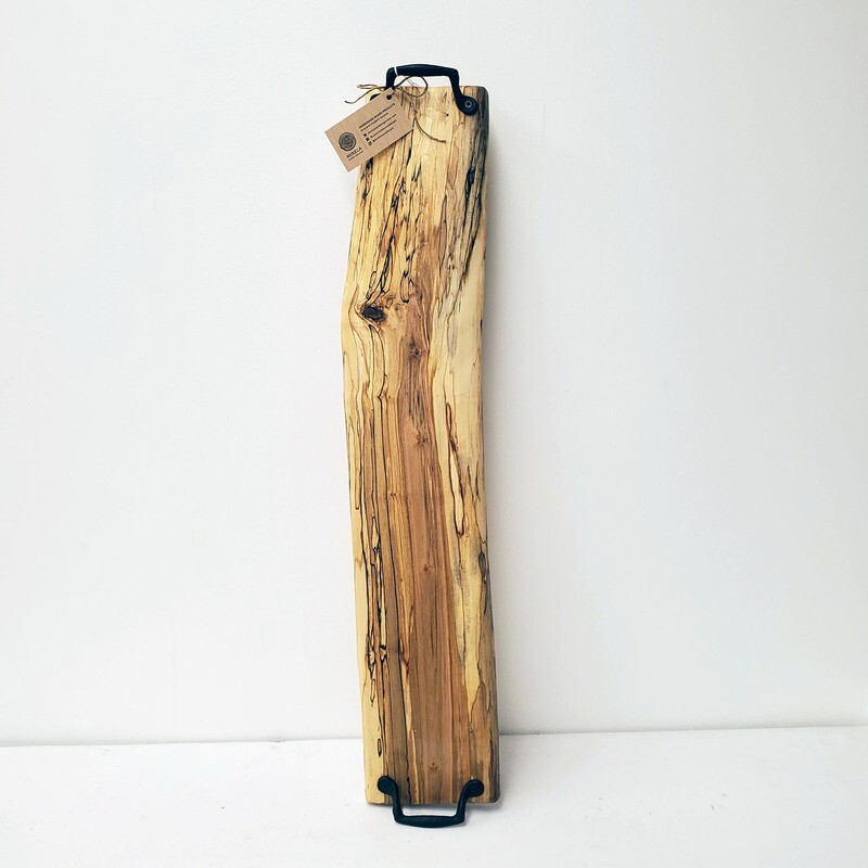 Maple board (loup) with cast iron handles
