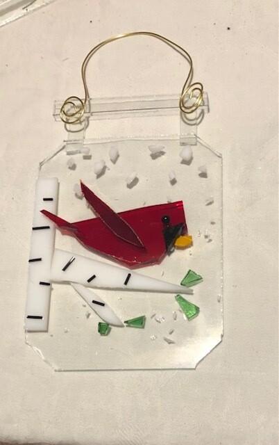 Fused Glass Kit: Cardinal Suncatcher