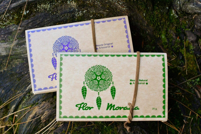 Tabaco Flor Morada Cartera Verde