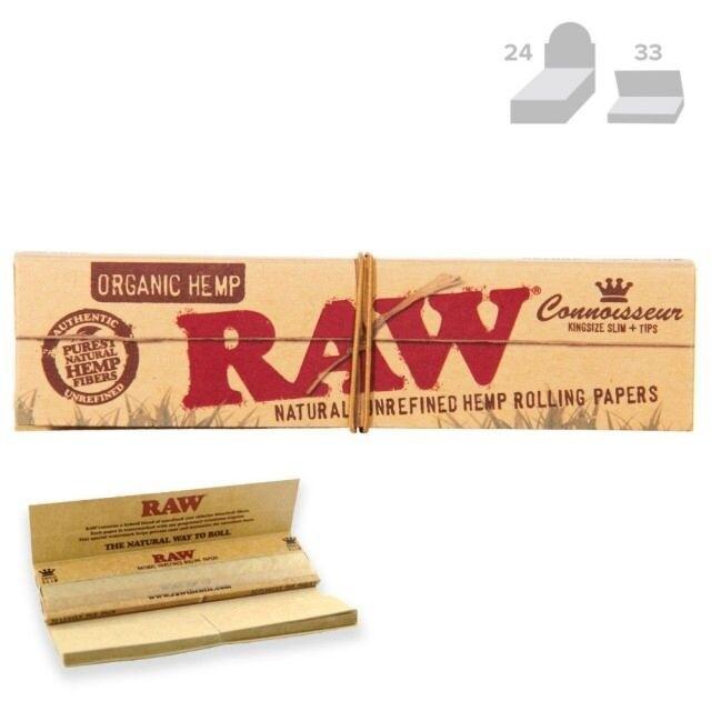 Raw - King Connoiseur Organic  + Tips