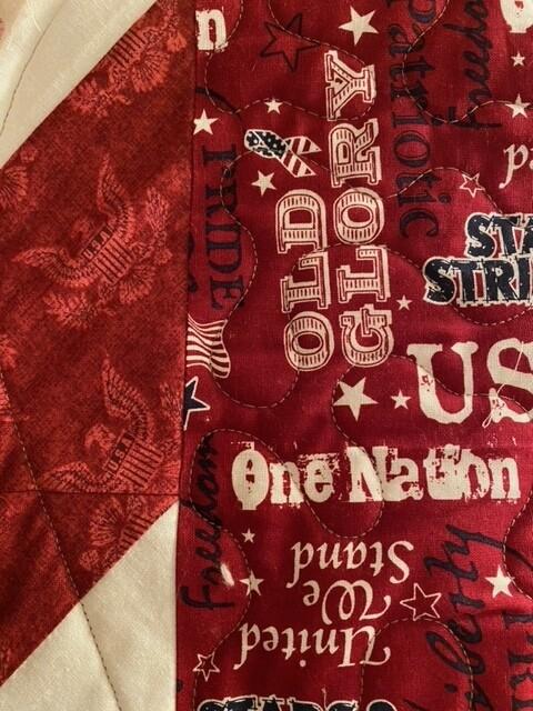 """""""KG001"""" patriotic quilt"""