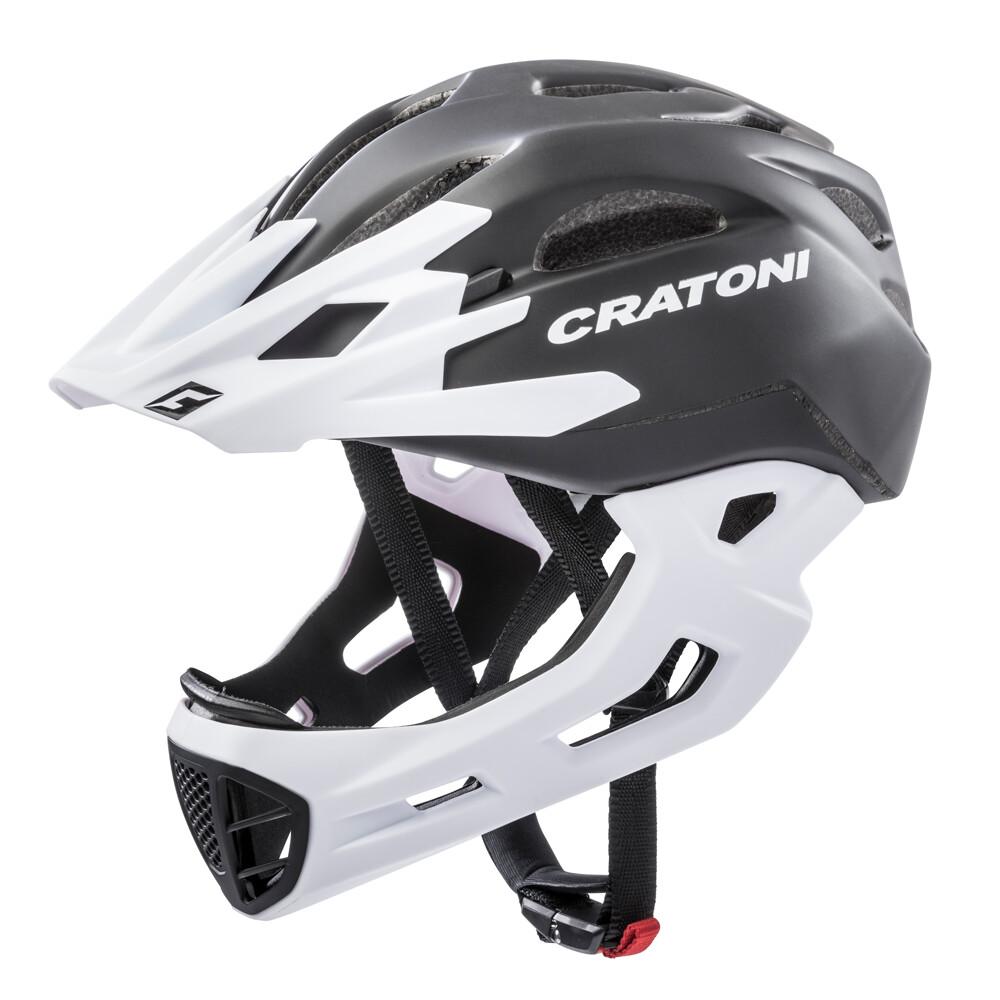 Cratoni C-maniac Black x White Matt  ML 54-58cm