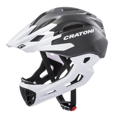 Cratoni C-maniac Black x White Matt  ML 54-58cm