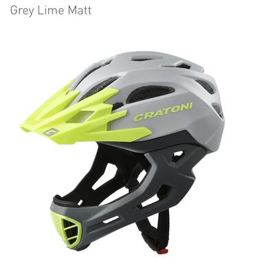 Cratoni C-maniac Grey Lime Matt   ML 54-58cm