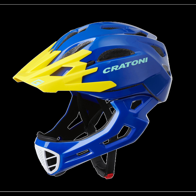 Cratoni C-maniac Blue Yellow Glossy  SM 52-56cm
