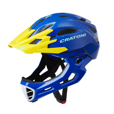 Cratoni C-maniac Blue Yellow Glossy  ML 54-58cm