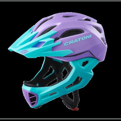 Cratoni C-maniac Purple Turquoise Matt SM 52-56cm