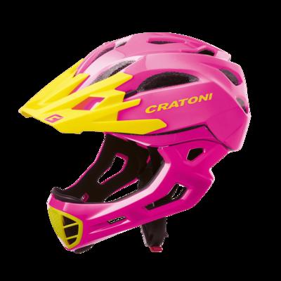 Cratoni C-maniac Pink Yellow Glossy  ML 54-58cm