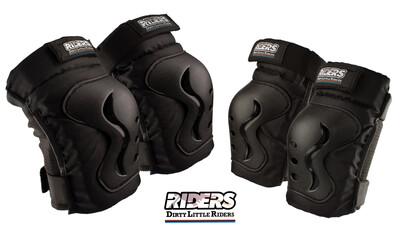 DLR Knee & Elbow Pads Set  Black