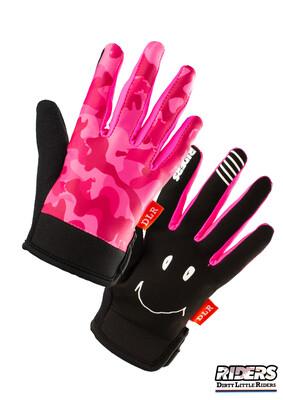 DLR Full-Finger Gloves - Camo Pink