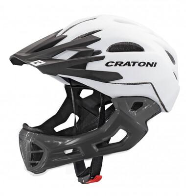 Cratoni C-maniac White Black Matt  ML 54-58cm
