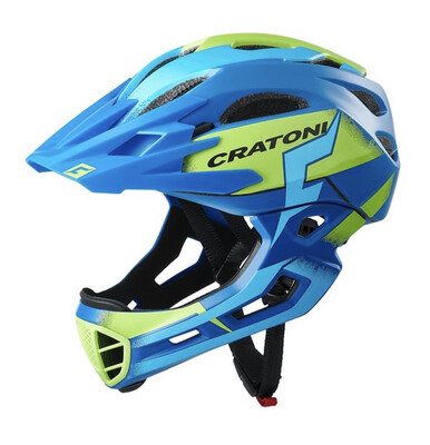 Cratoni C-maniac Pro Blue Lime Matt   SM 52-56cm