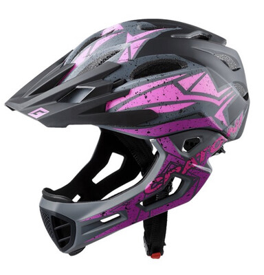 Cratoni C-maniac Pro Black Pink Purple Matt ML 54-58cm