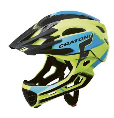 Cratoni C-maniac Pro Yellow Blue Glossy ML 54-58cm