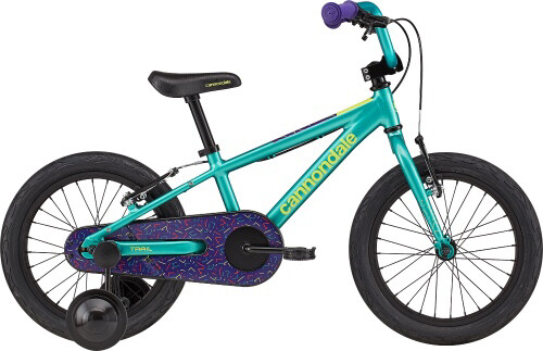 "Cannondale 16"" Kid Trail   Green Purple"