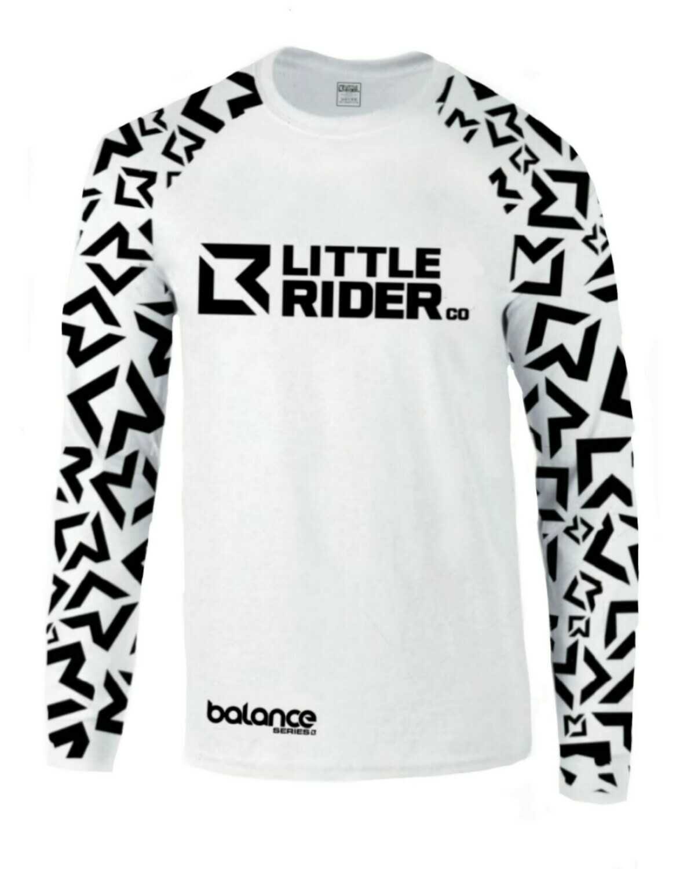Little Rider Co Balance Series Jersey - 'STORM TROOPER WHITE'