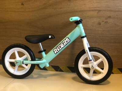 DLR Riders Balance Bike 001- Pepper Mint Green With White EVA Wheels