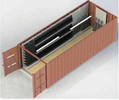 Racks in Container رفوف لتخزين الأسلحة داخل كونتينر أو حاويه