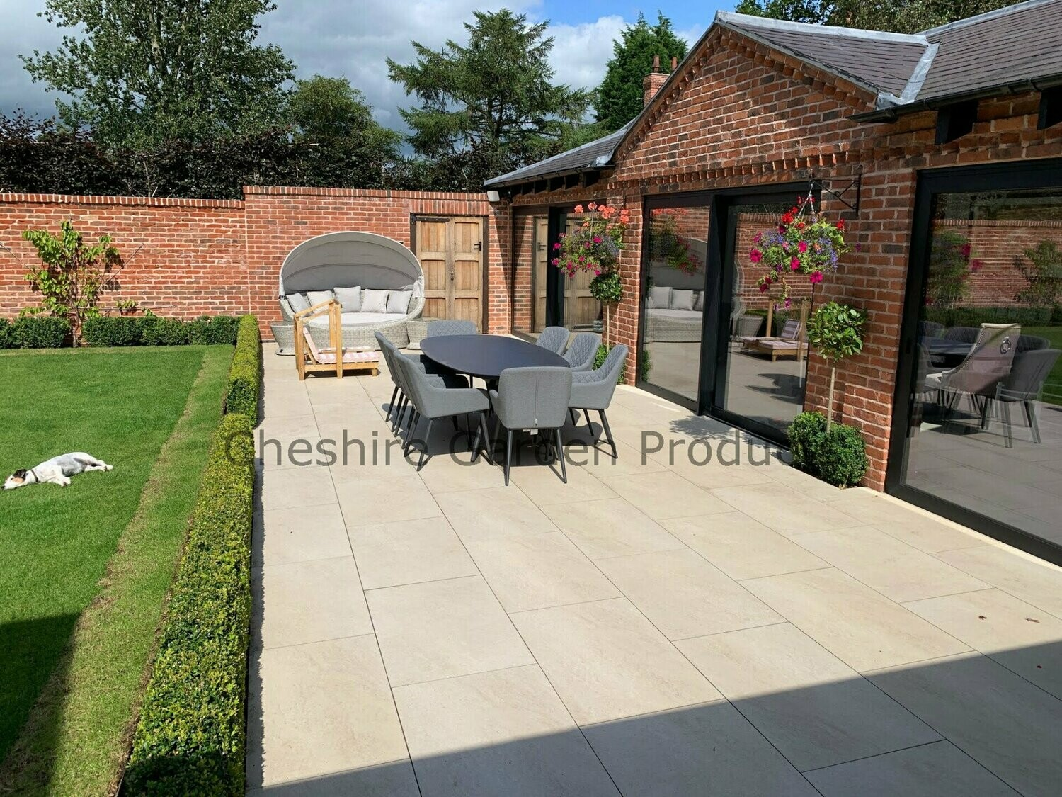 Ivory Beige Vitrified Porcelain Paving 20mm 22.30m2 900x600