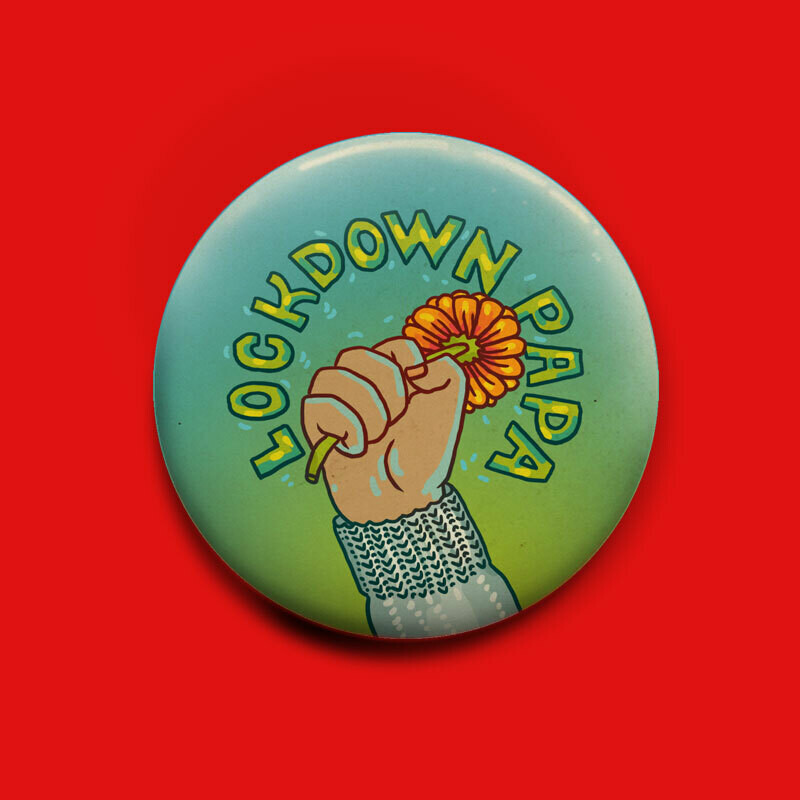 Lockdown Papa Button 50mm