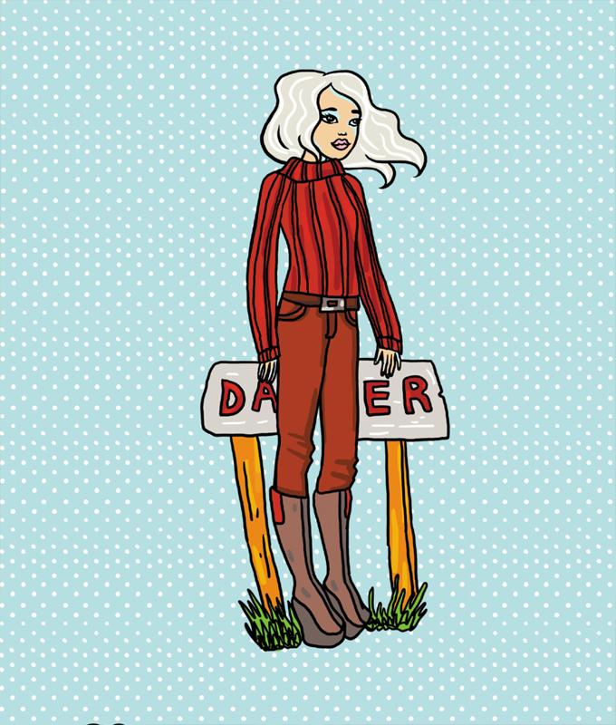 Лена - бумажная кукла-одевашка и одежки