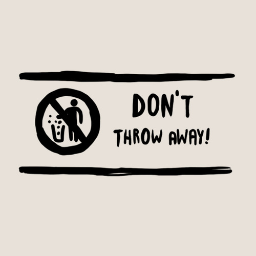 Don't throw away tattoo (set of 4)