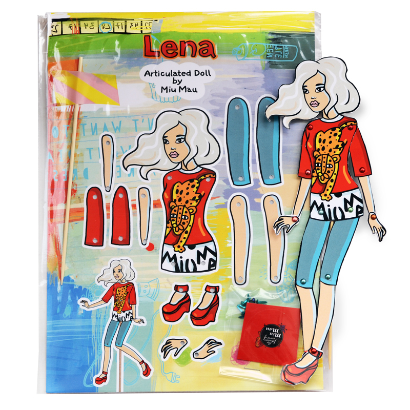 Lena - DIY Articulated Paper Doll