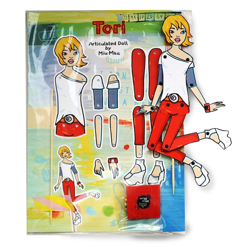 Tori - DIY Articulated Paper Doll