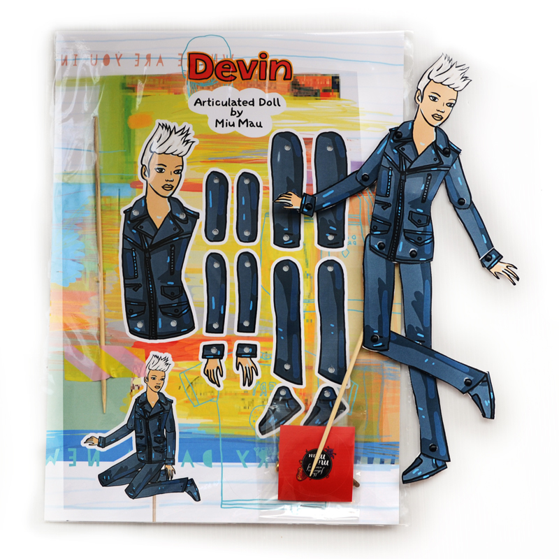 Devin - DIY Articulated Paper Doll