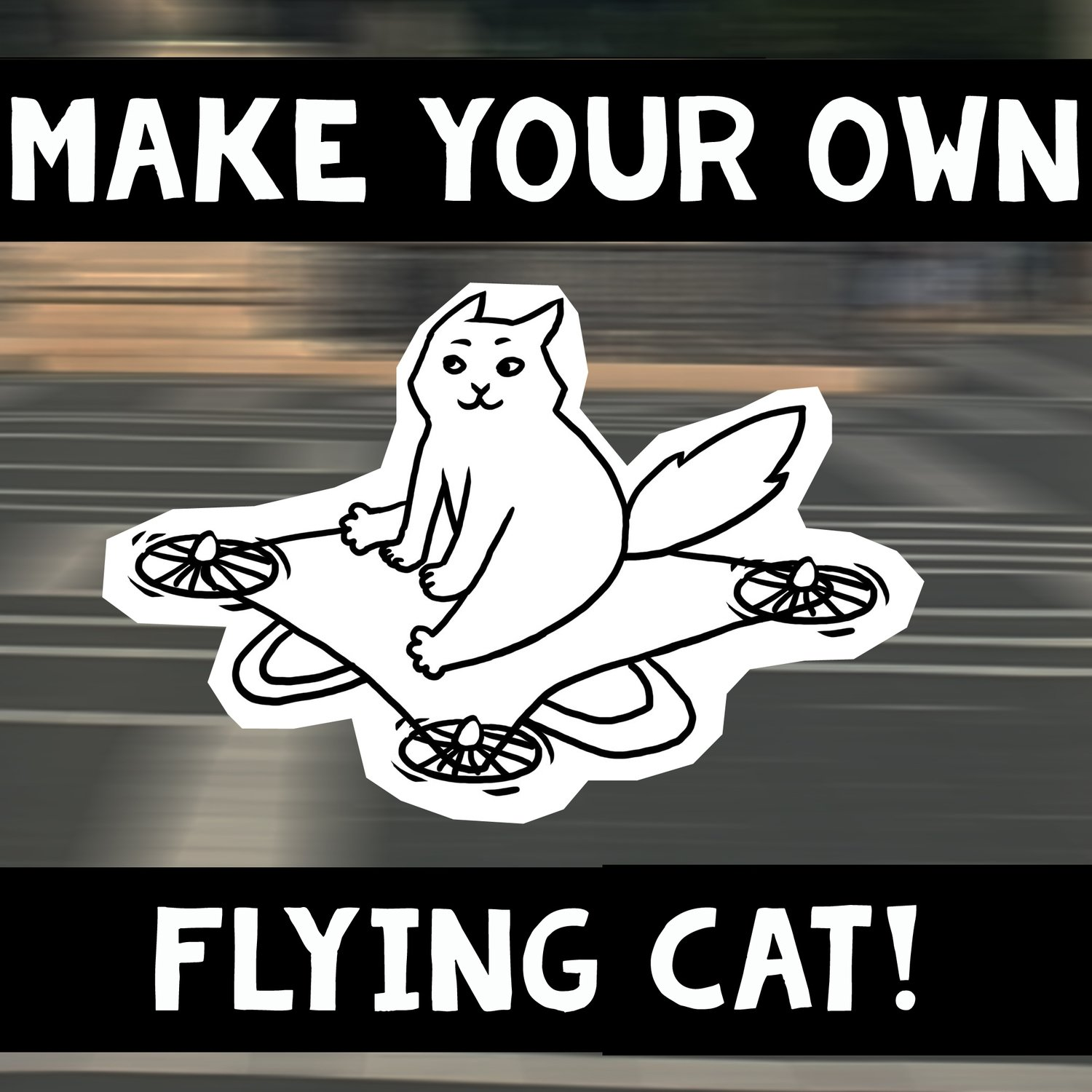 Make your own flying cat