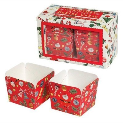 Christmas Carnival Square Baking Cases